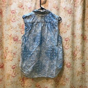 Mudd Tops - Cute Patterned Denim Shirt